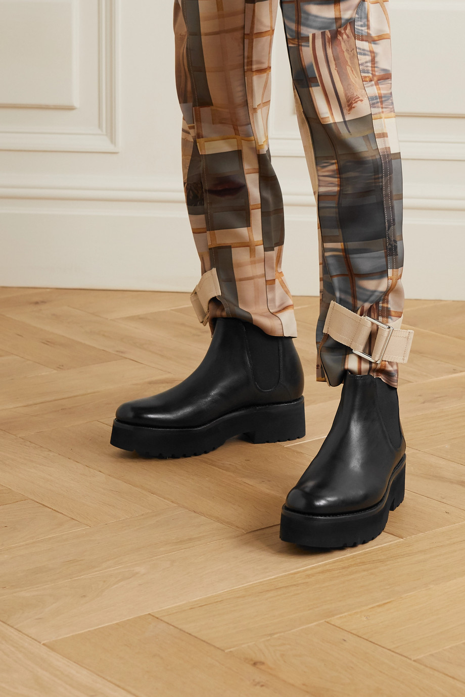 GRENSON Naomi leather platform Chelsea boots