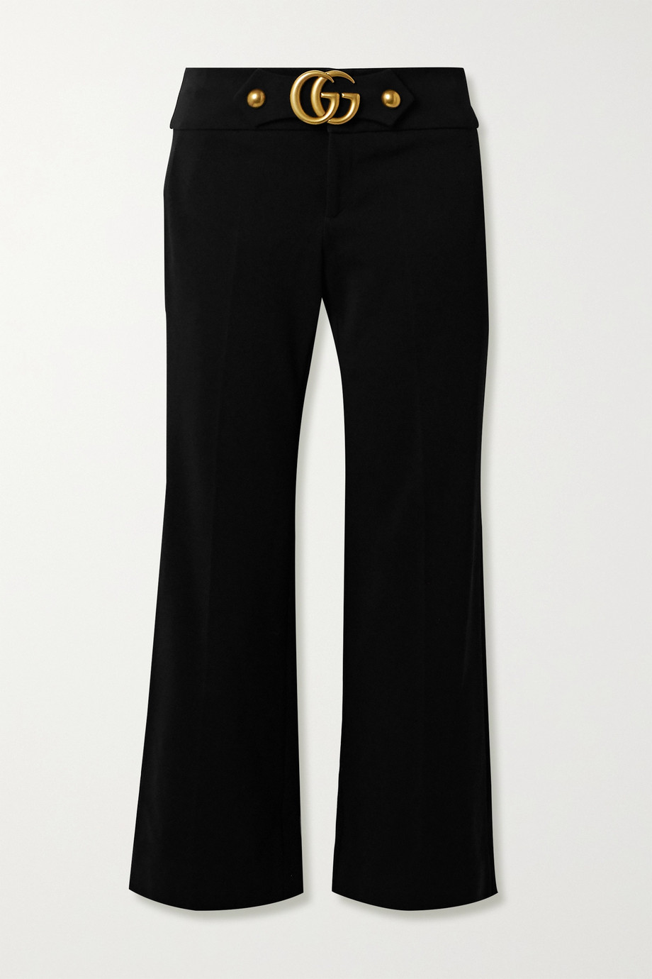 GUCCI Embellished stretch-crepe flared pants