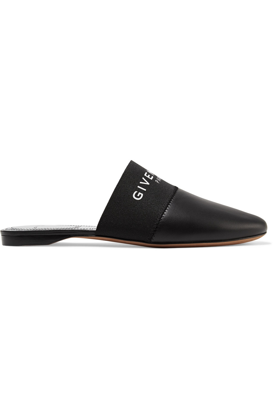 GIVENCHY Bedford logo-print leather slippers
