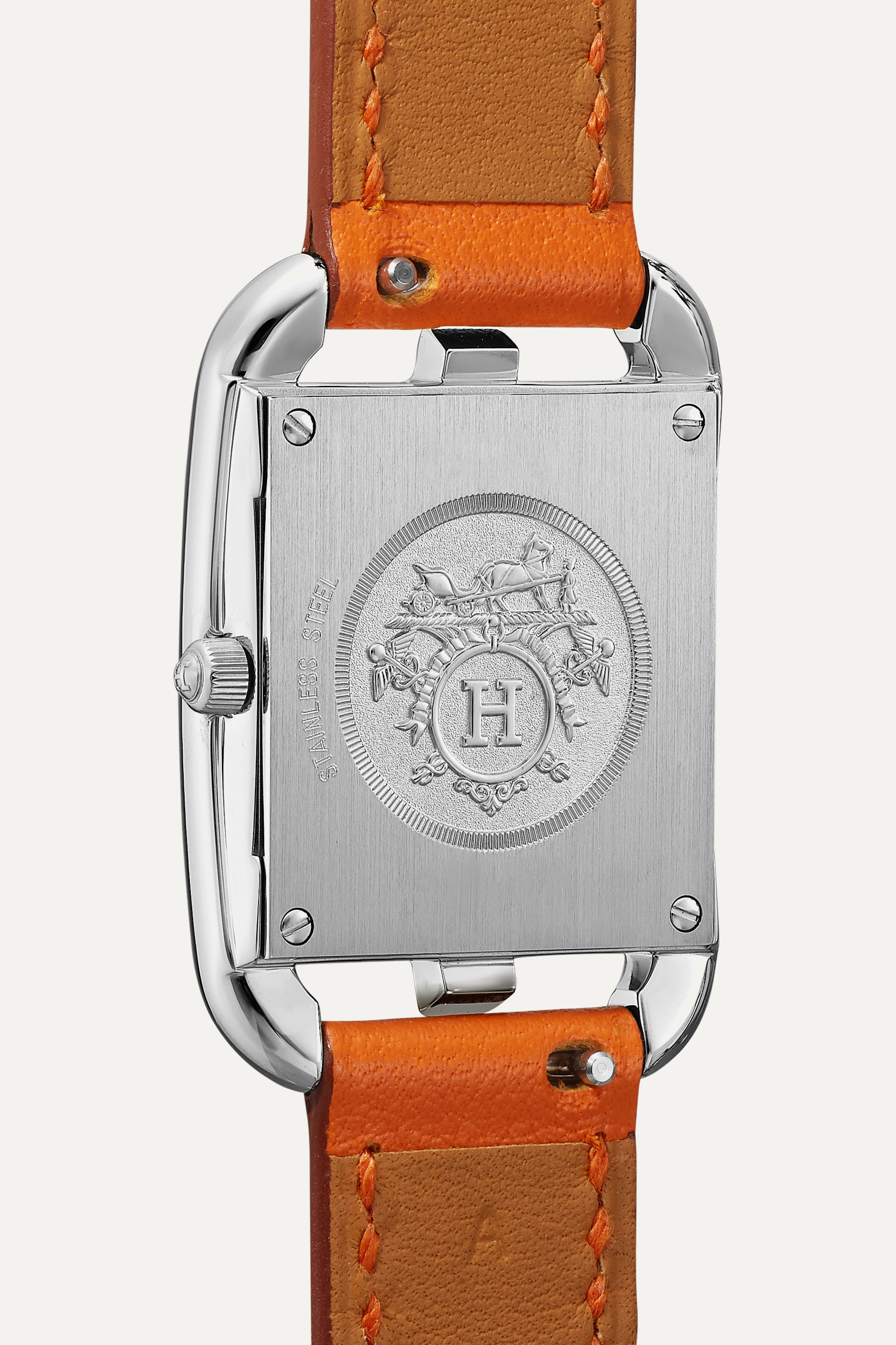 HERMÈS TIMEPIECES Cape Cod 23mm small stainless steel and leather watch