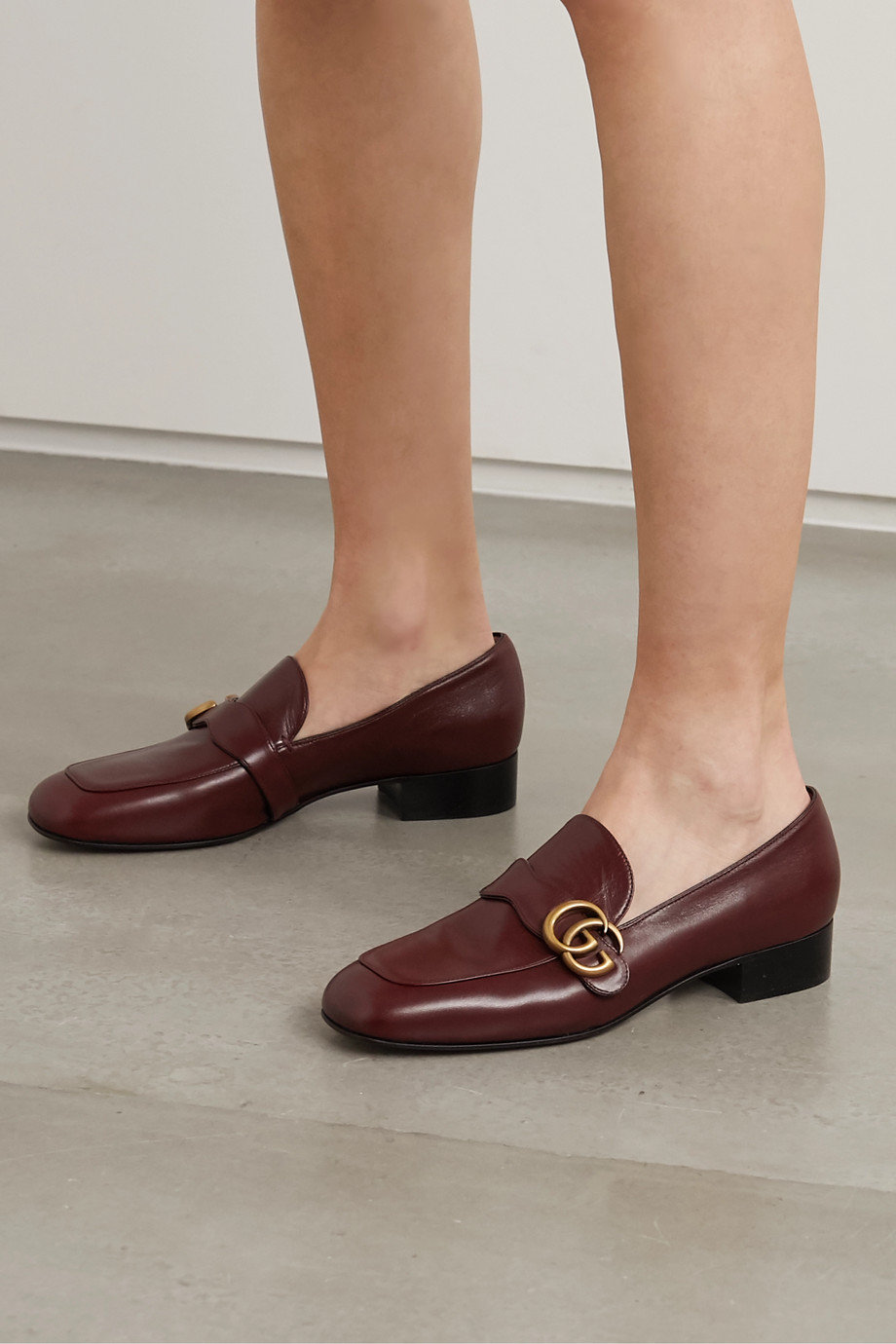 GUCCI Marmont logo-embellished leather loafers