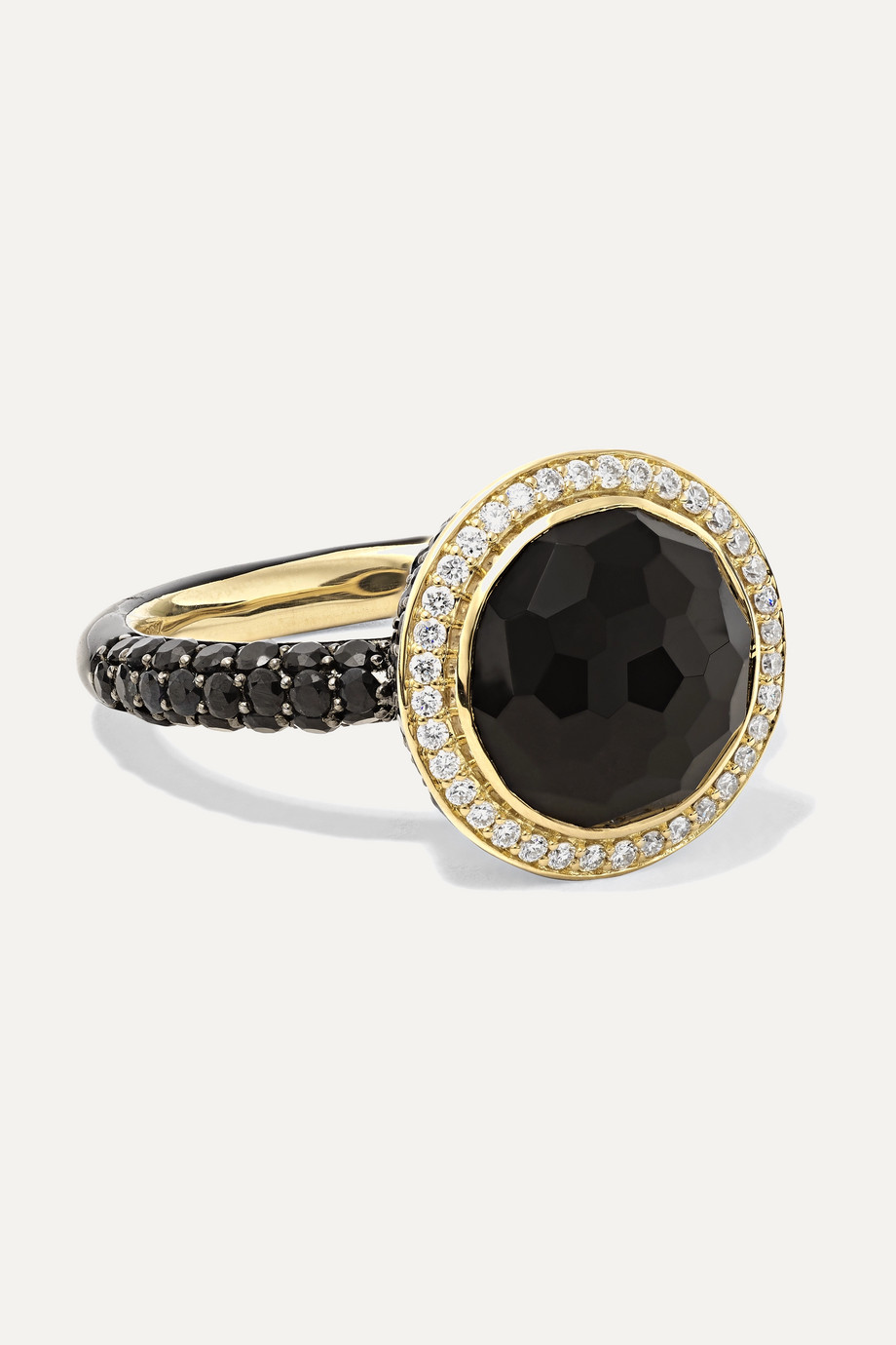 IPPOLITA Lollipop 18-karat gold and ceramic multi-stone ring