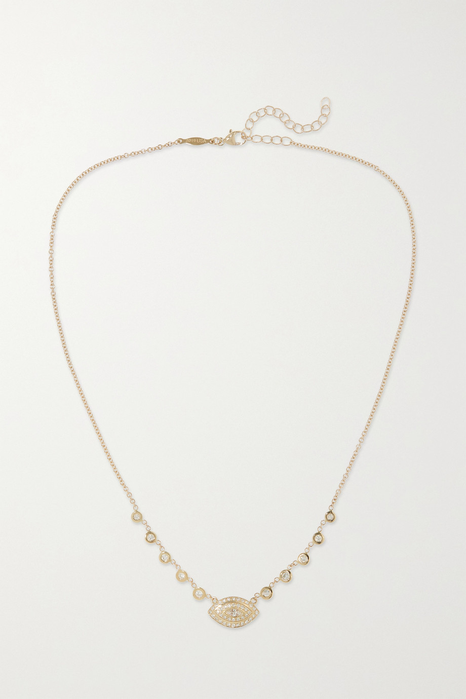 JACQUIE AICHE Emily 14-karat gold diamond necklace