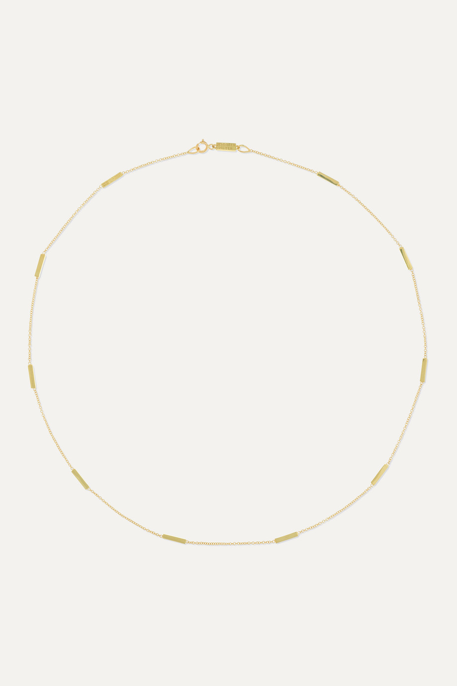JENNIFER MEYER Bar-By-the-Inch 18-karat gold necklace