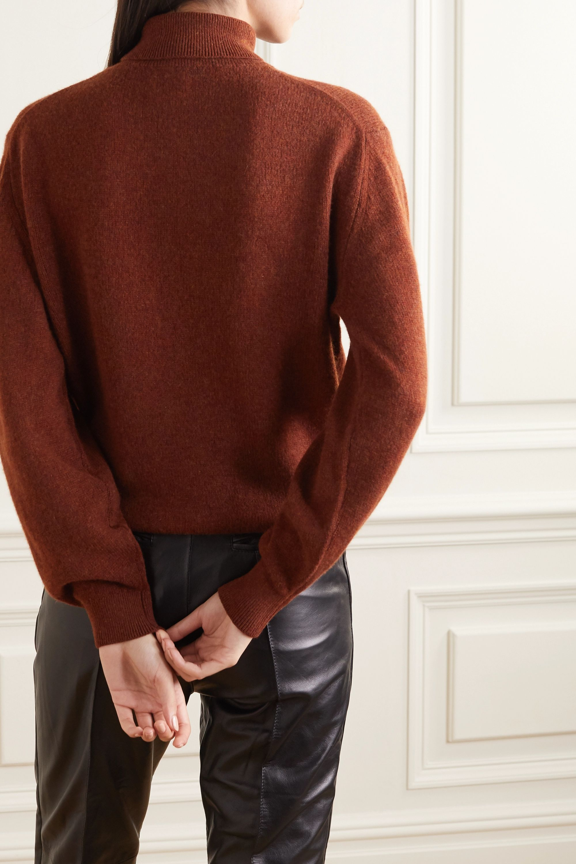 KHAITE Julie cashmere-blend turtleneck sweater