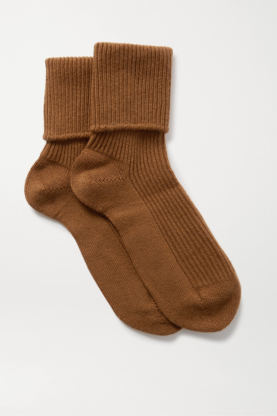 JOHNSTONS OF ELGIN + NET SUSTAIN ribbed cashmere socks