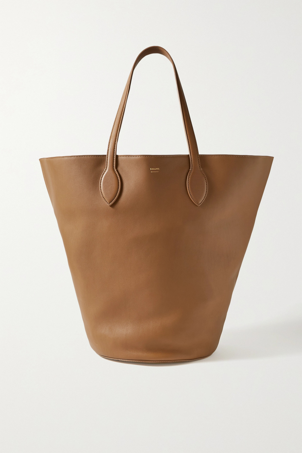 KHAITE - Circle 皮革中号手提包 - 棕色 - One size