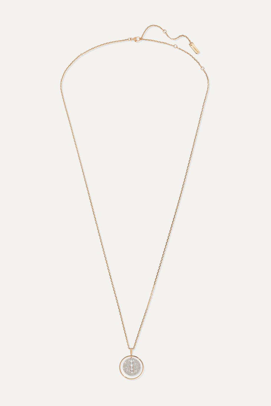 MESSIKA Lucky Move 18-karat rose gold diamond necklace