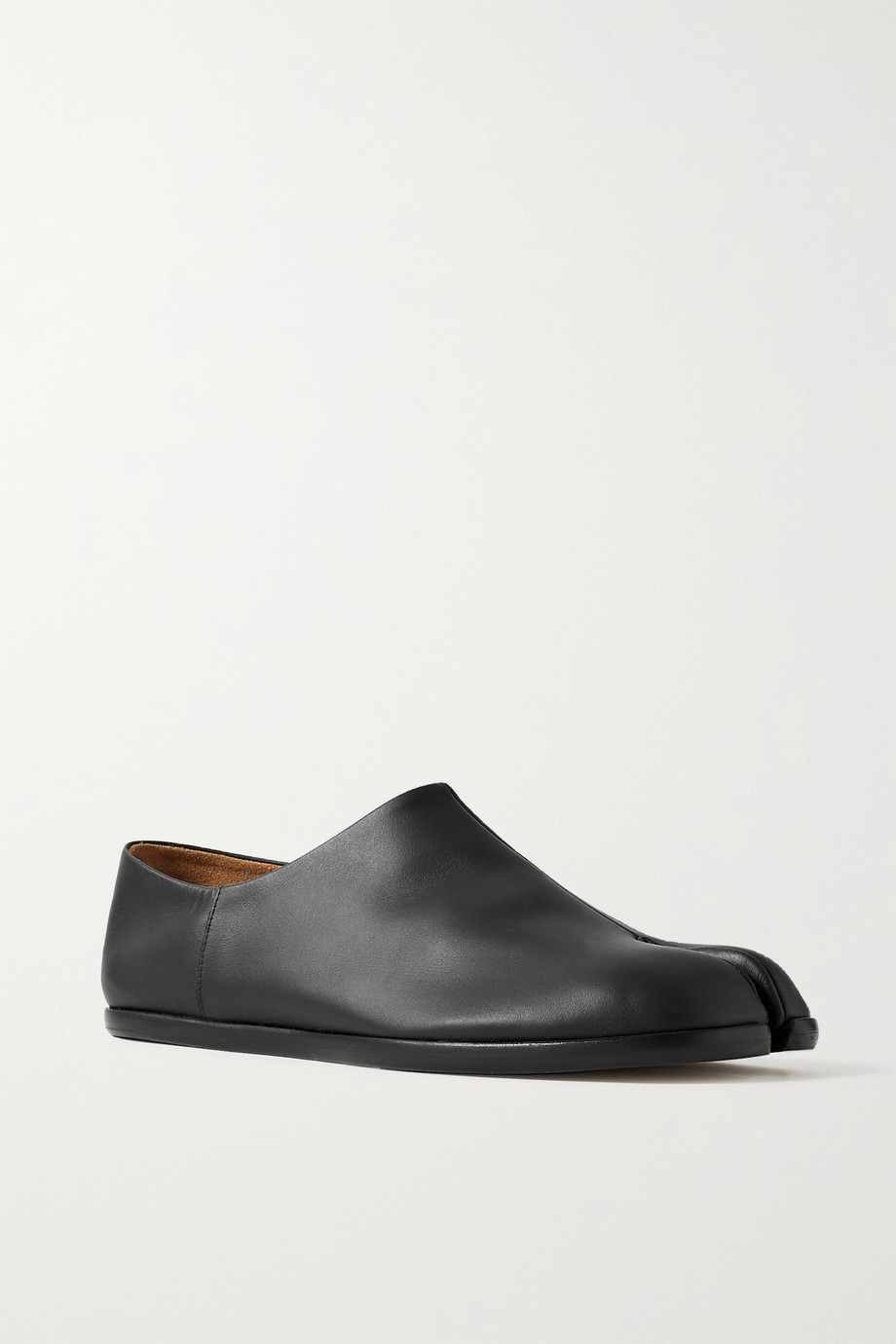 MAISON MARGIELA Split-toe leather collapsible-heel loafers