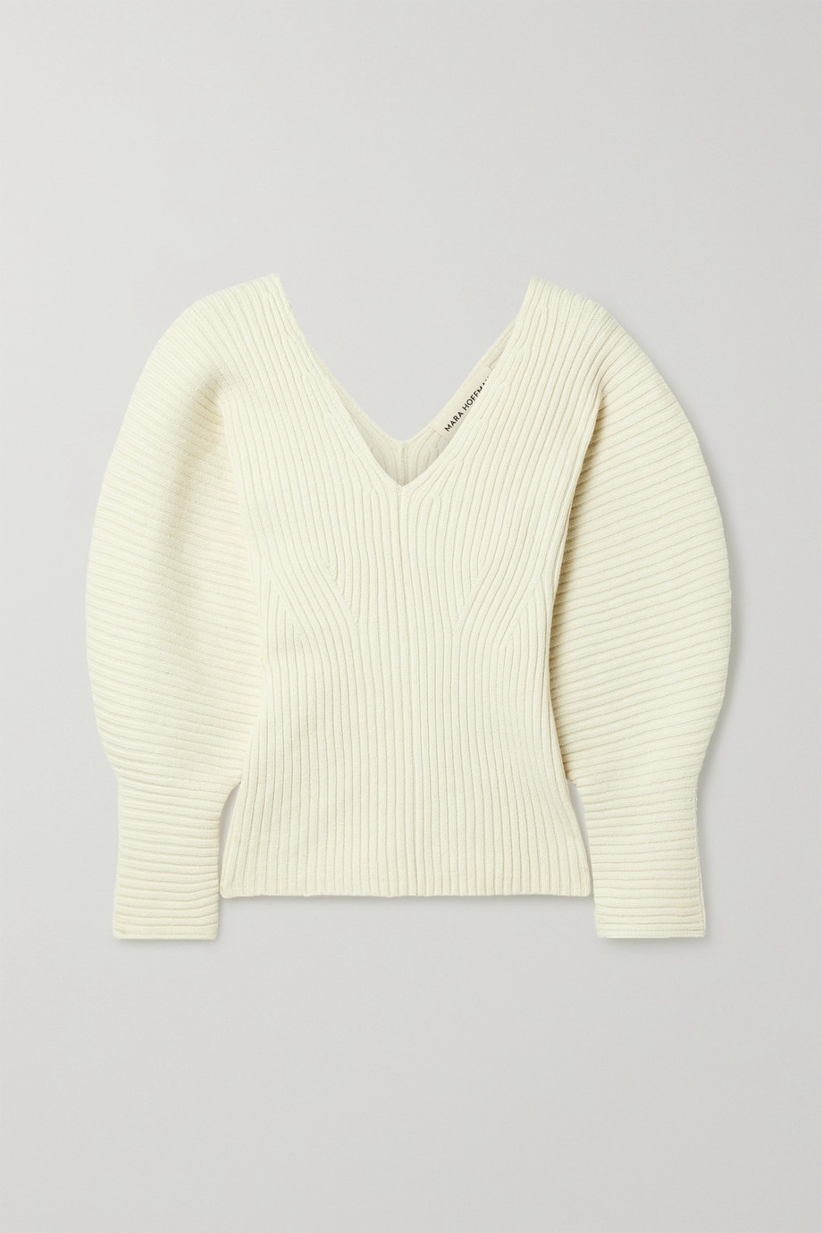 MARA HOFFMAN + NET SUSTAIN Olla ribbed organic cotton-blend sweater