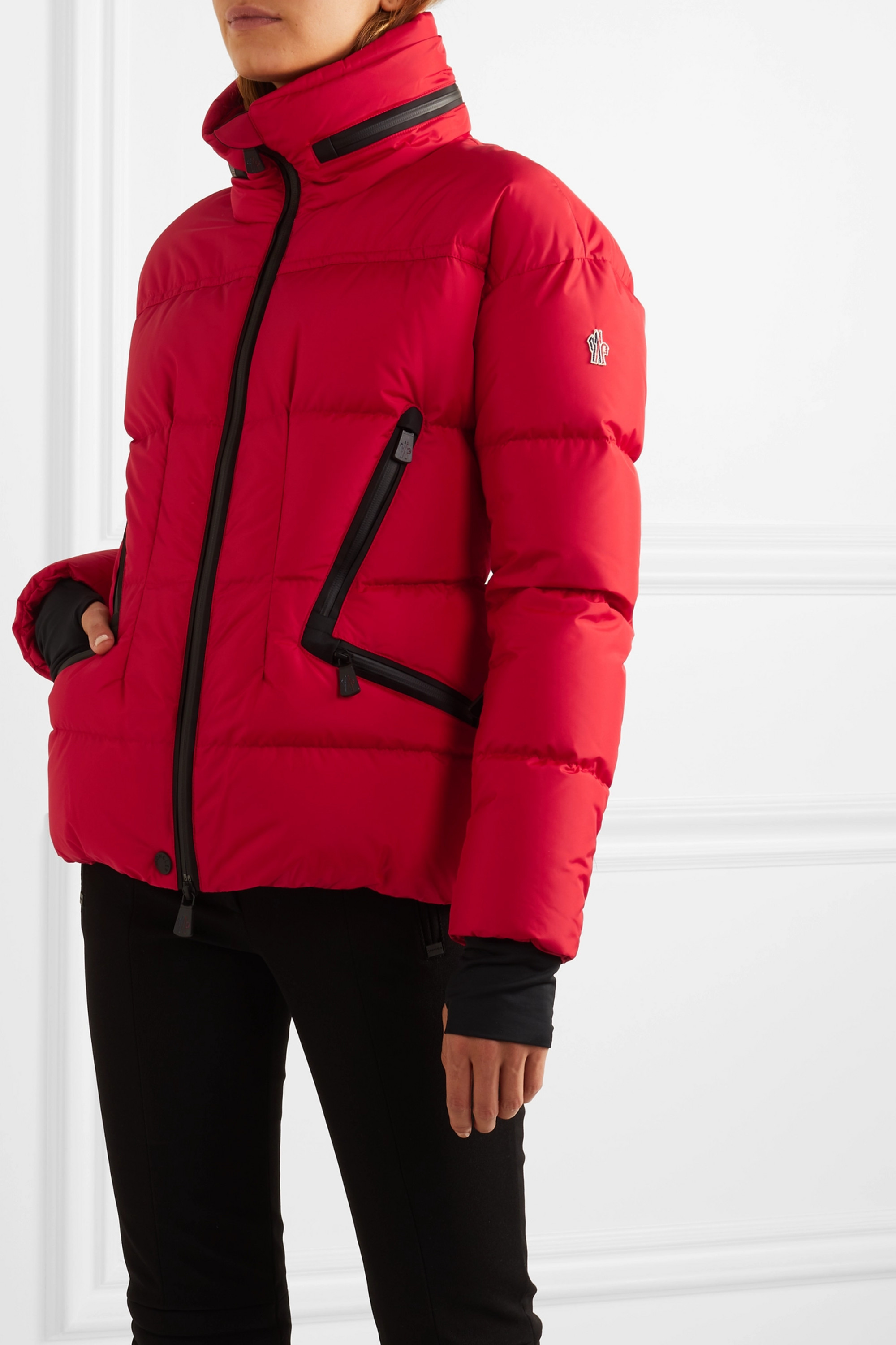 MONCLER GRENOBLE Dixence quilted down ski jacket