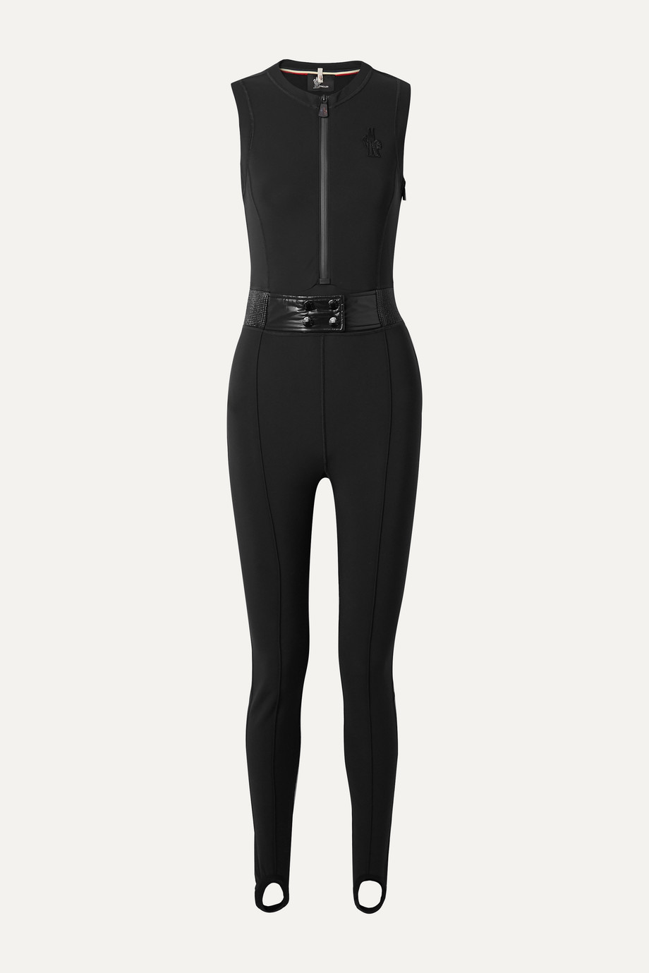 MONCLER GRENOBLE Belted stirrup stretch ski suit