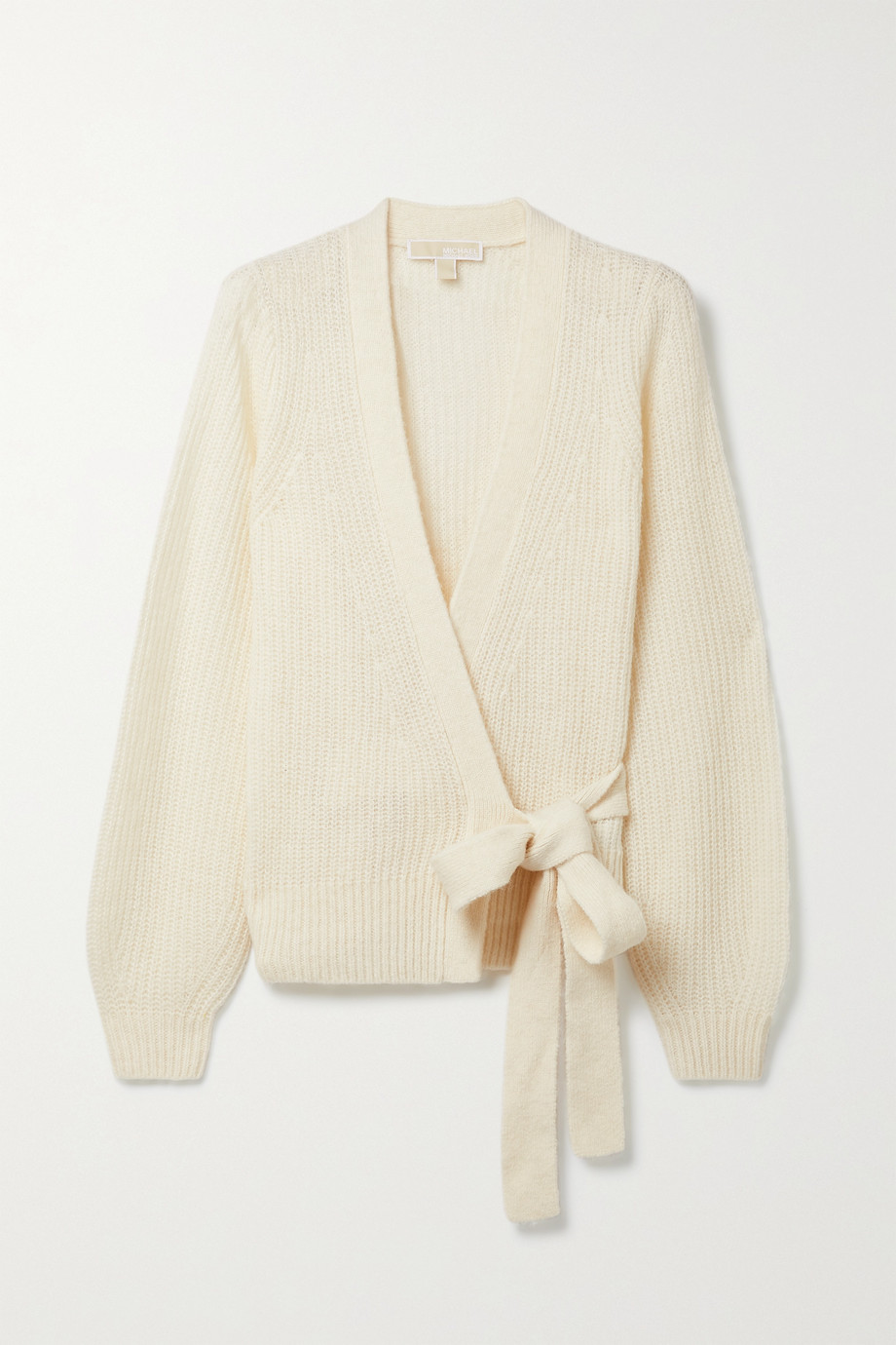 MICHAEL MICHAEL KORS Ribbed-knit wrap cardigan