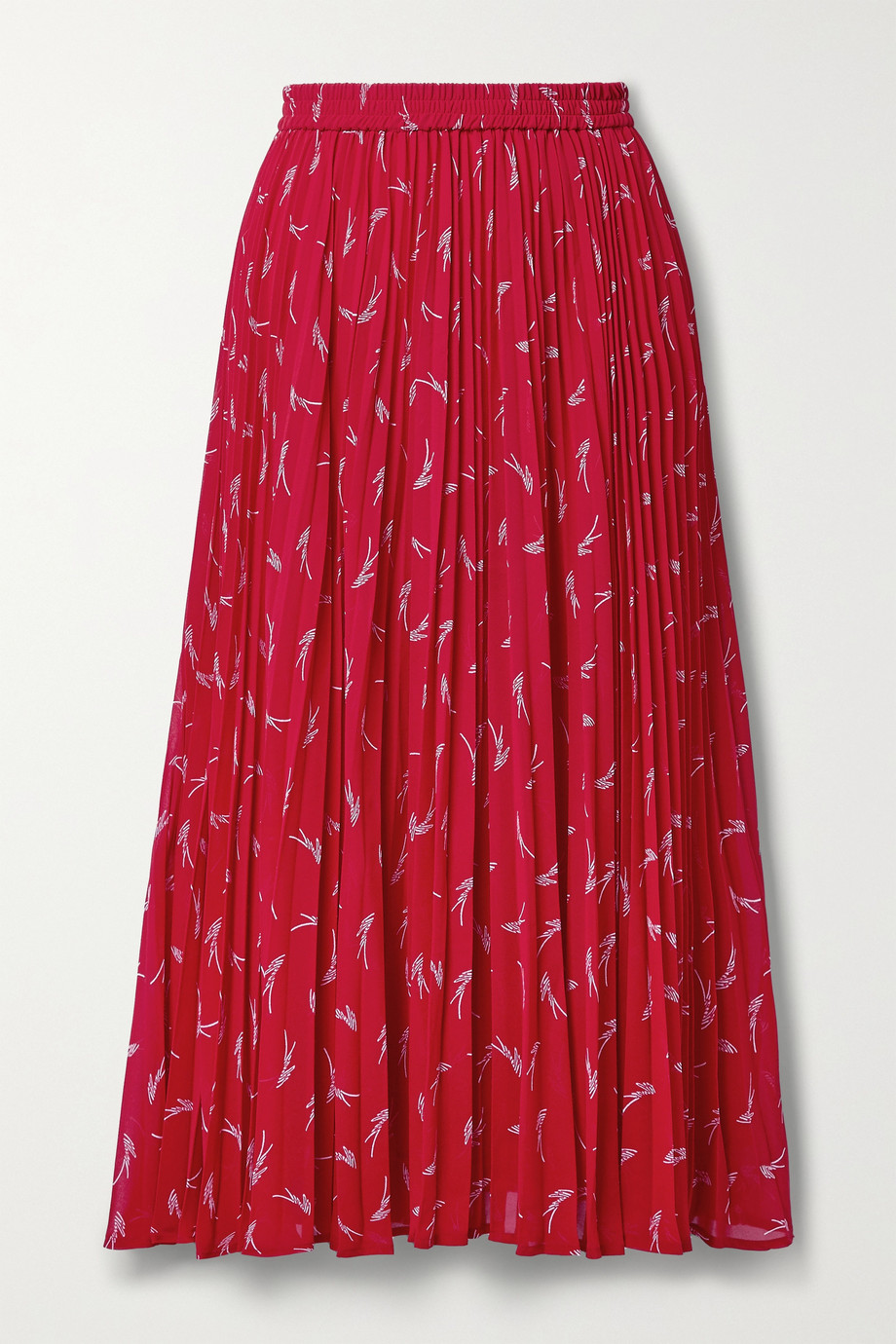 MICHAEL MICHAEL KORS Pleated printed crepe midi skirt