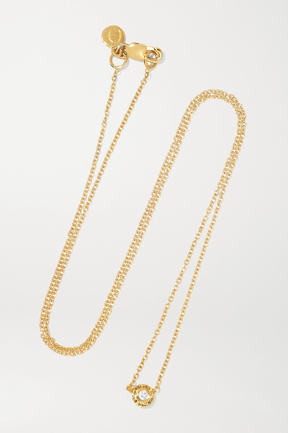 OCTAVIA ELIZABETH Nesting Gem 18-karat gold diamond necklace