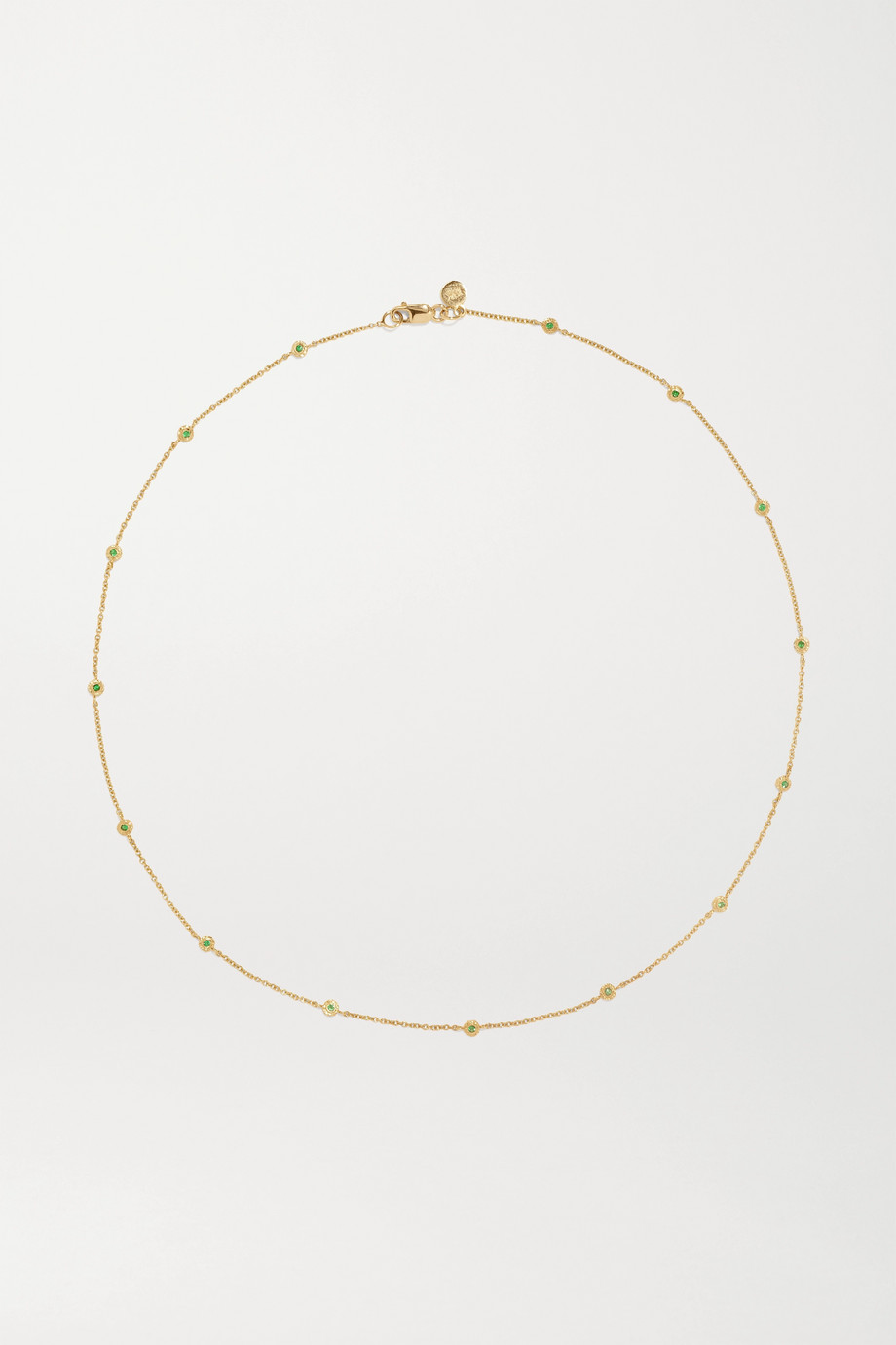 OCTAVIA ELIZABETH Nesting Gem 18-karat gold emerald necklace