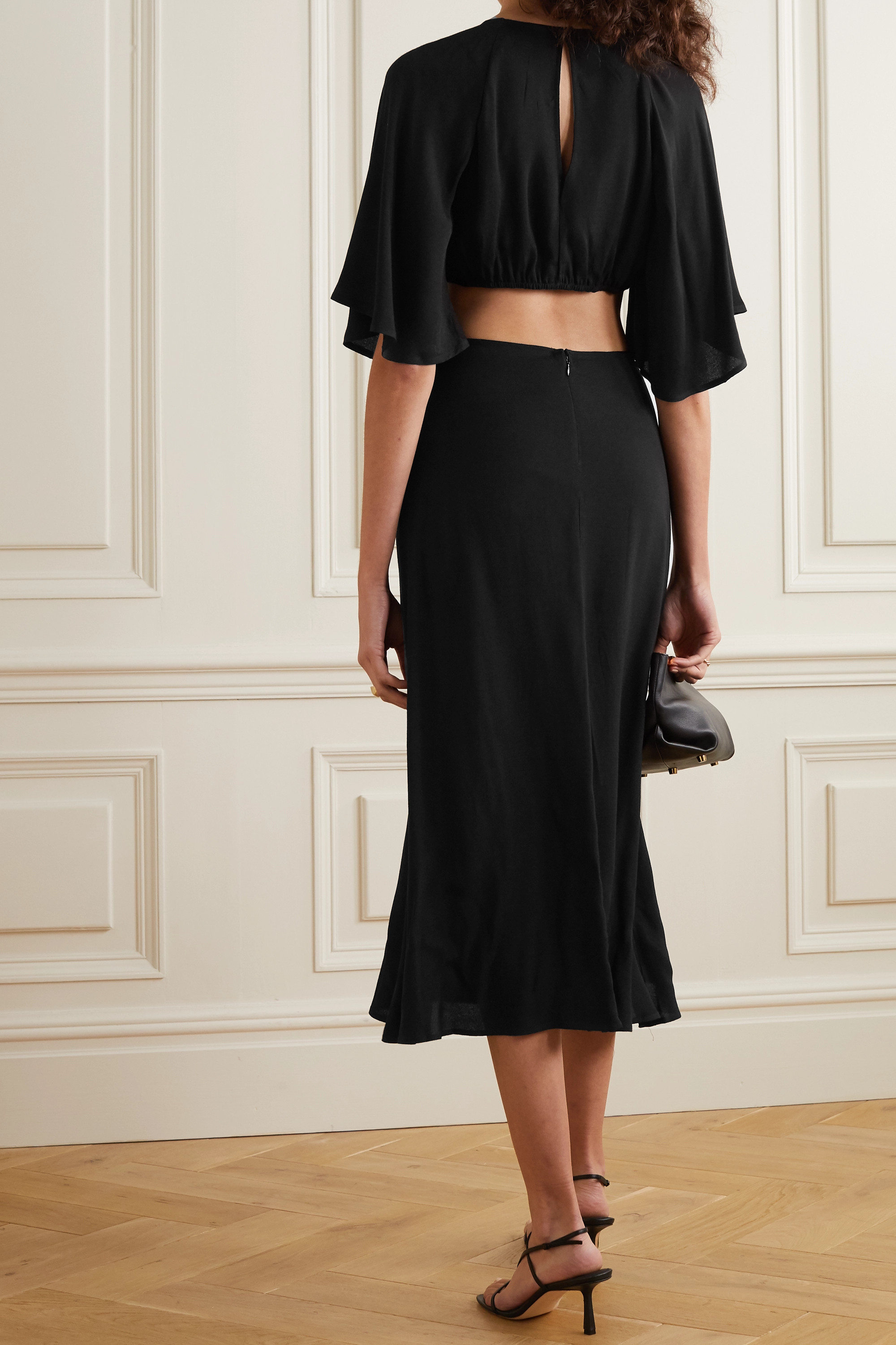REFORMATION Benny cutout crepe midi dress