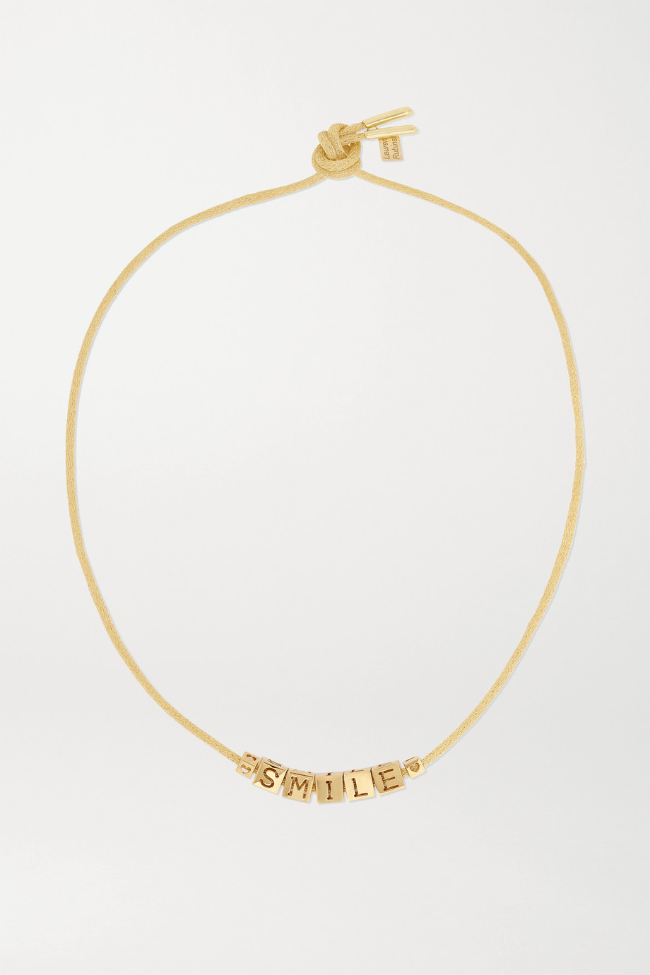 LAUREN RUBINSKI Smile 14-karat gold necklace