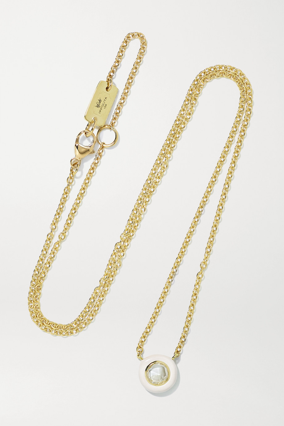 IPPOLITA Lollipop Carnevale 18-karat gold, ceramic and diamond necklace