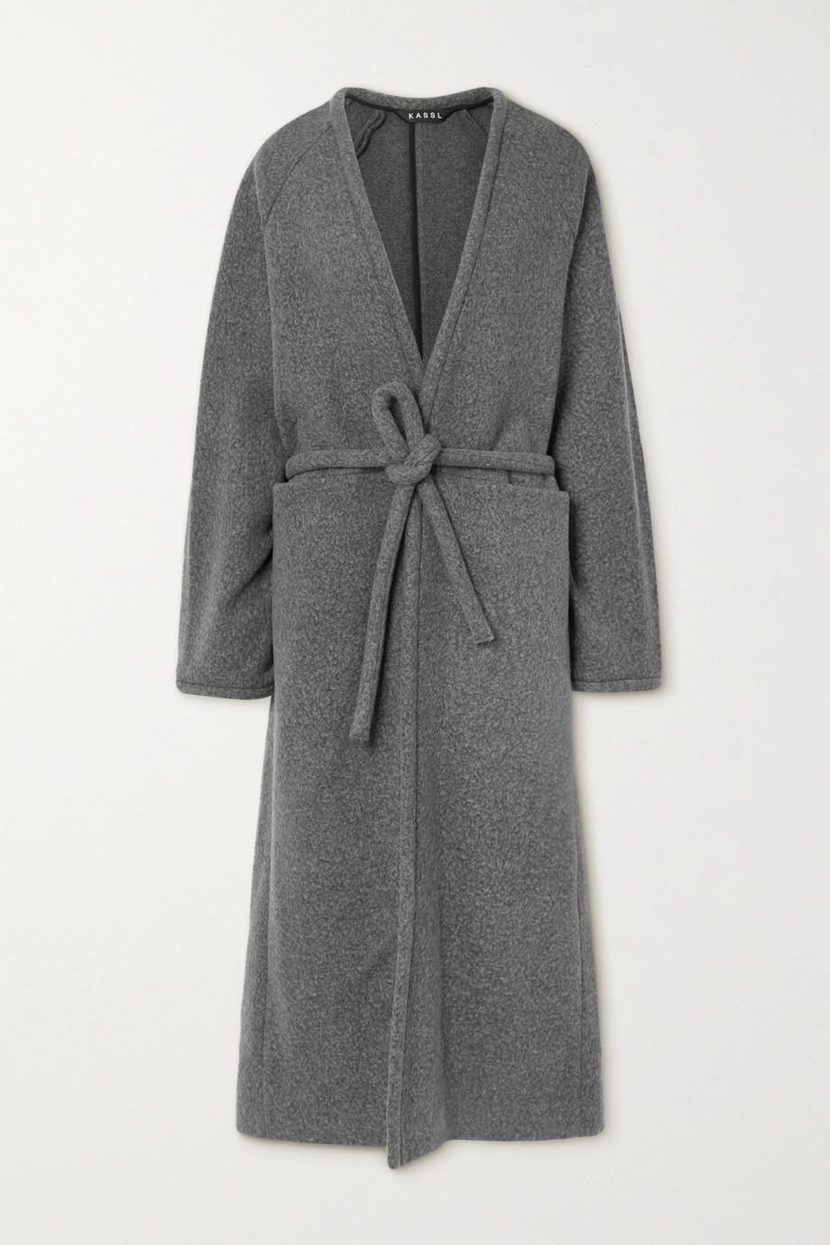 KASSL EDITIONS Belted wool-blend coat