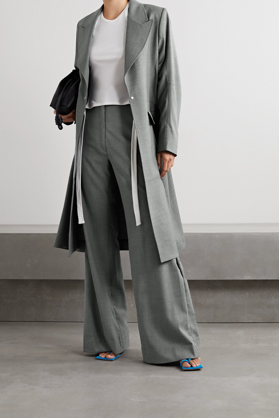 IOANNES Irene wool-blend flared pants