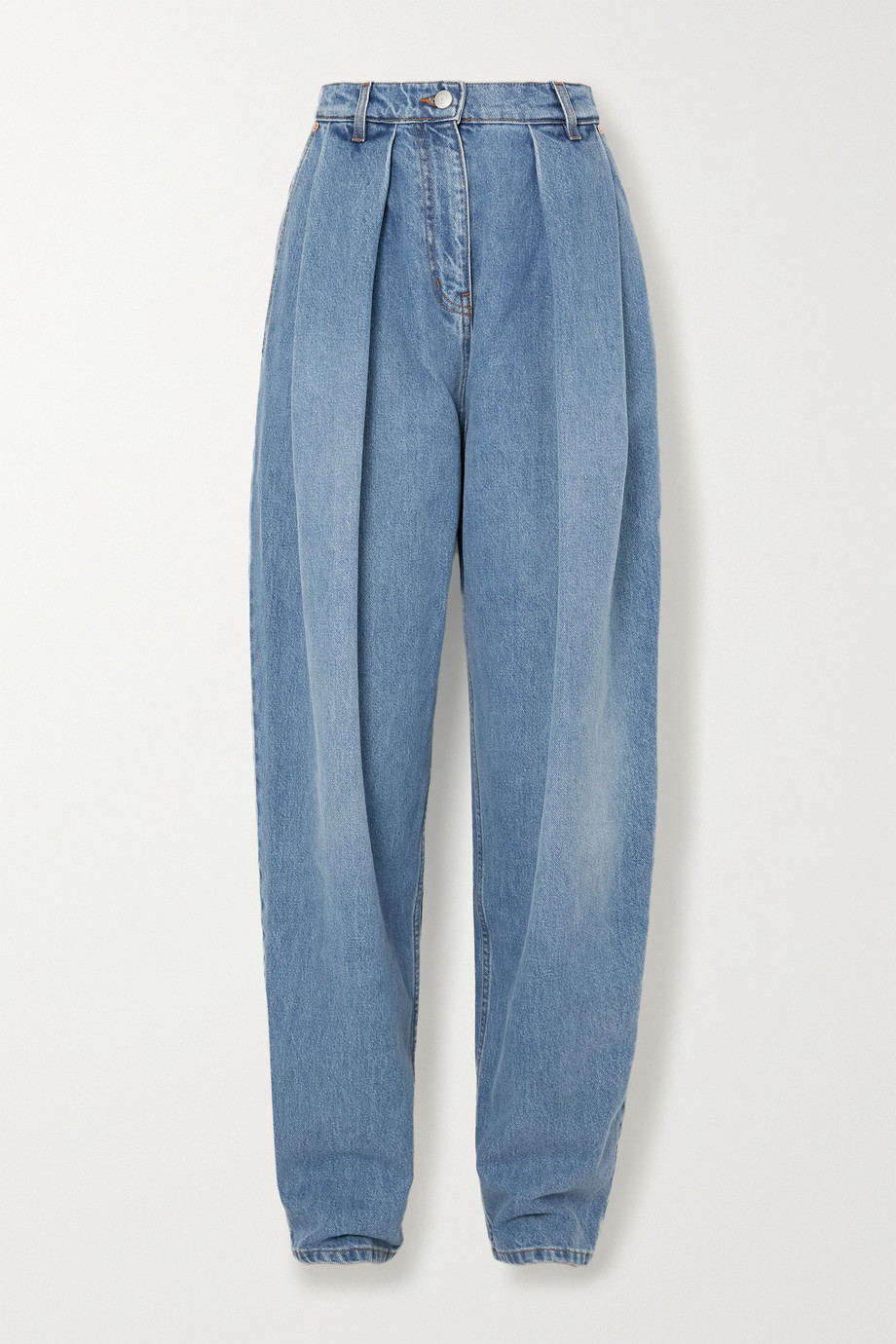 MAGDA BUTRYM Pleated high-rise tapered jeans