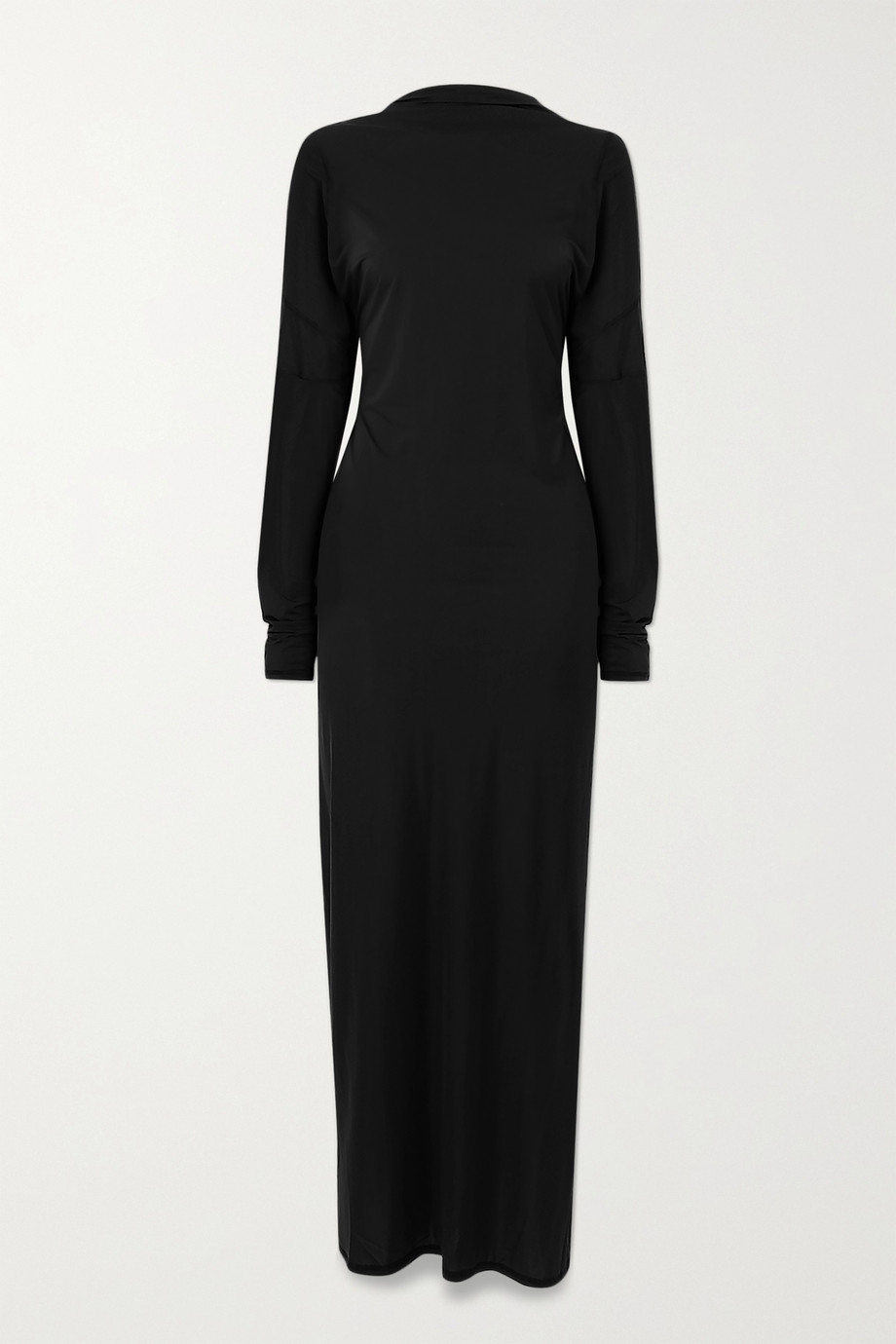 IOANNES Open-back paneled stretch-jersey maxi dress