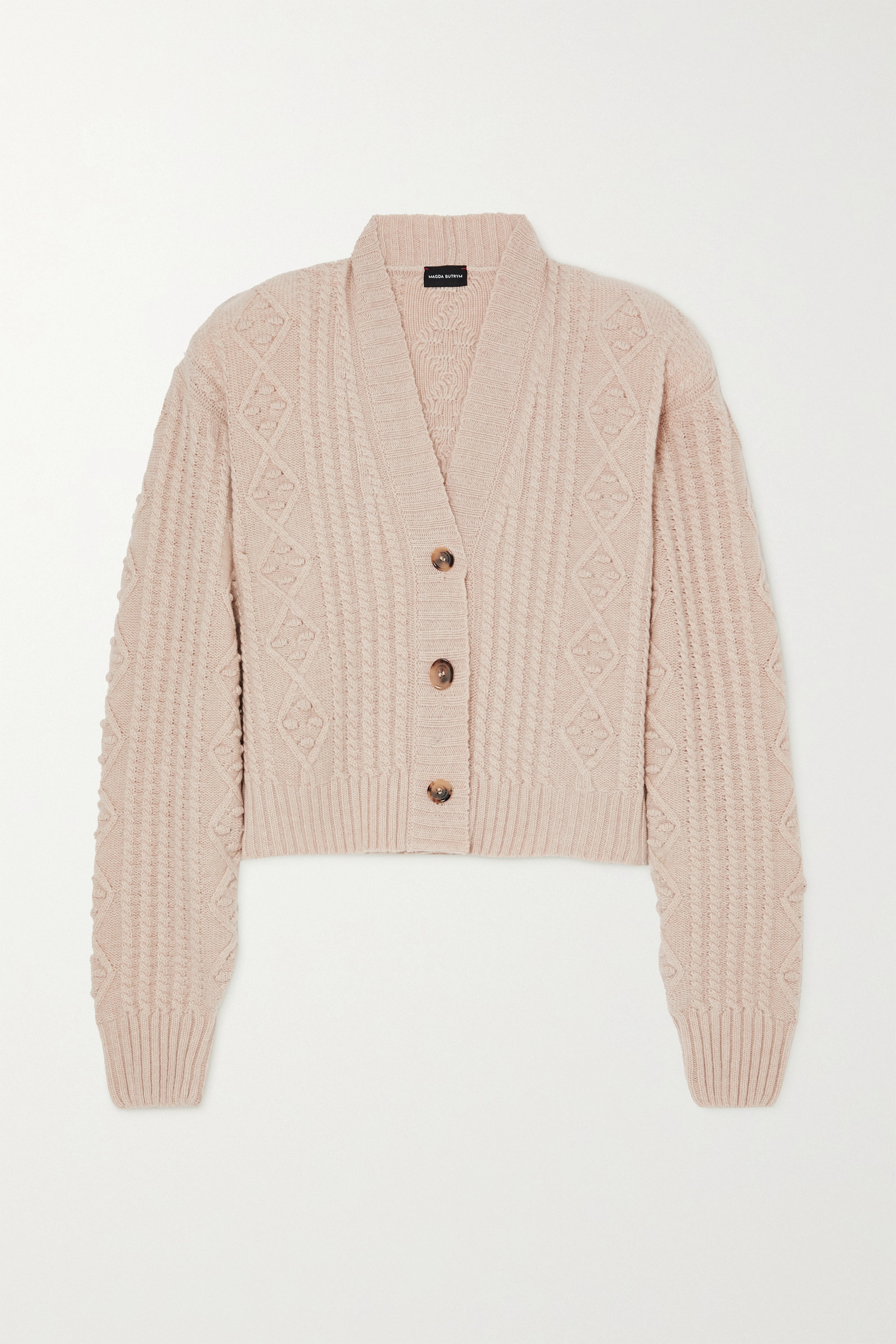MAGDA BUTRYM Cable-knit cashmere cardigan