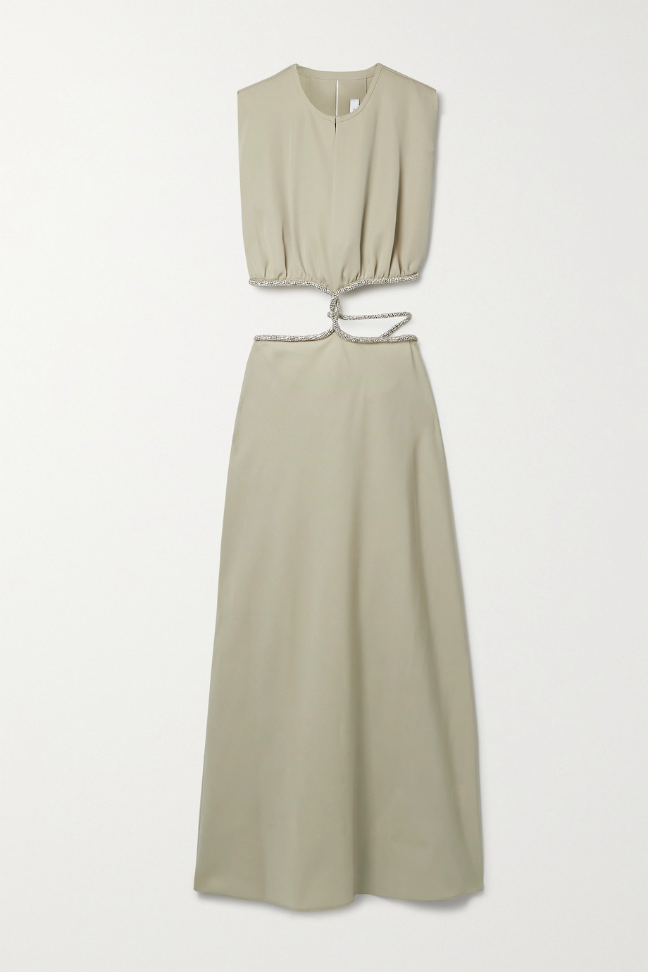 CHRISTOPHER ESBER Crystal-embellished cutout wool-twill maxi dress