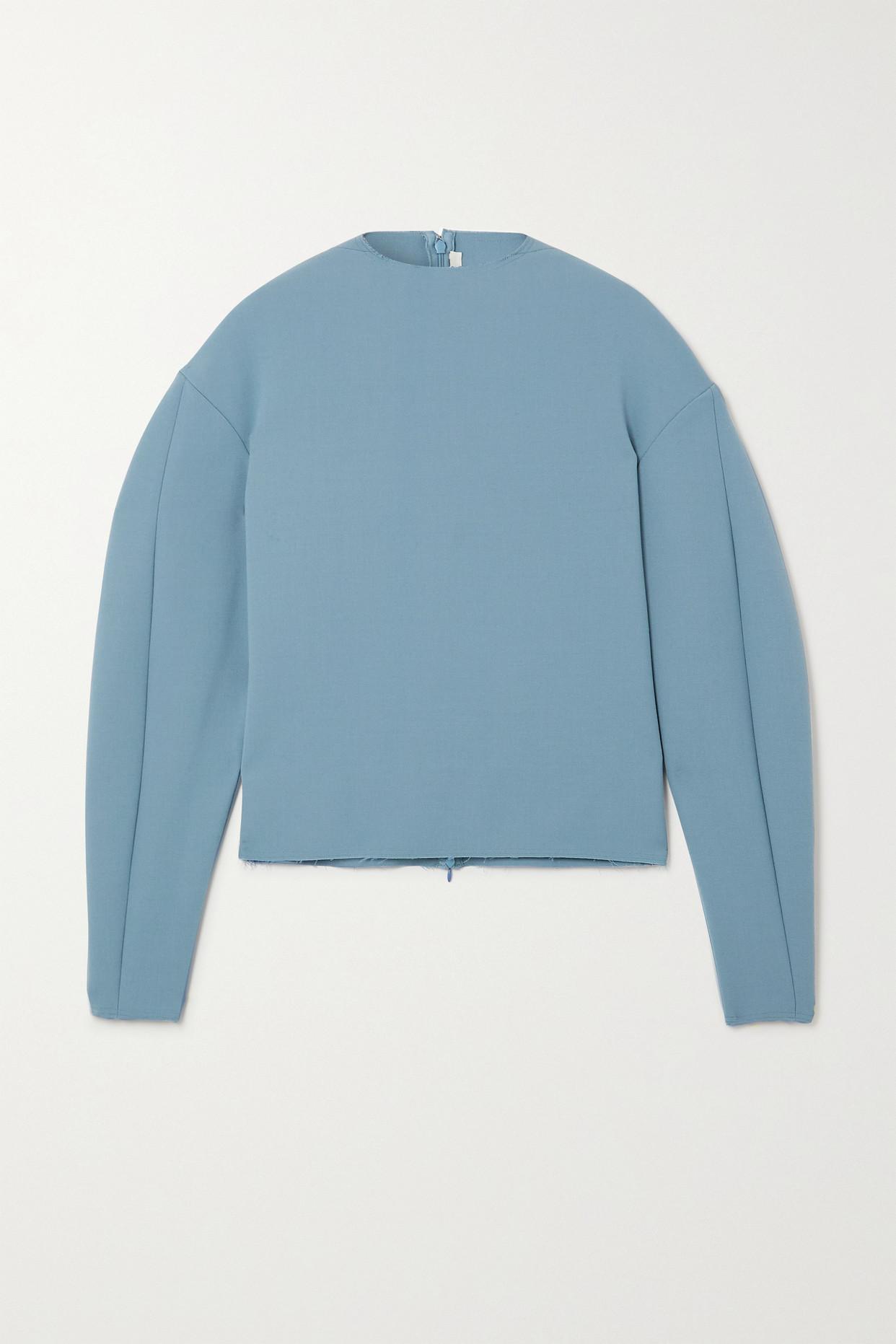 GAUCHERE - Reggie Frayed Wool Top - Blue - FR36