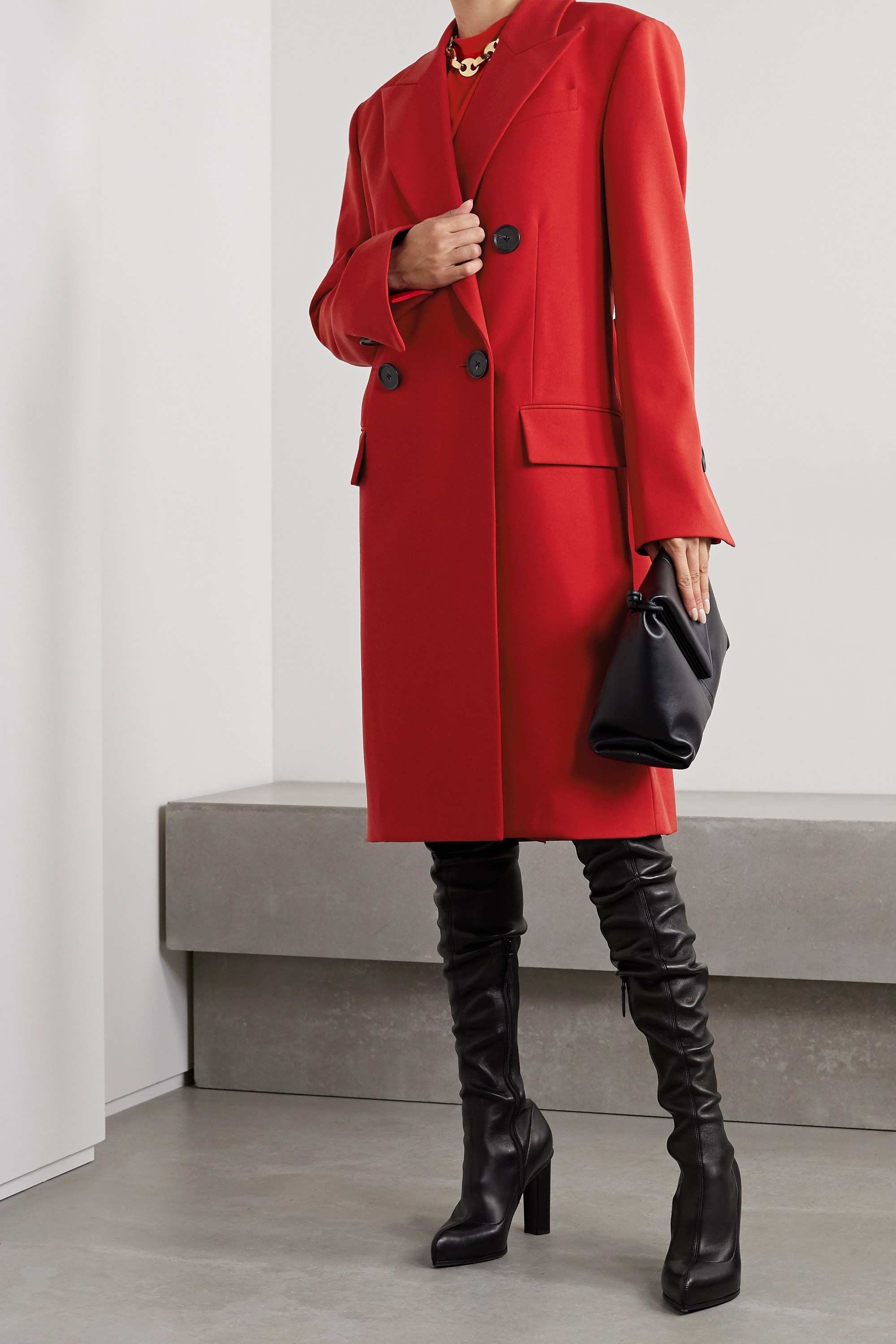 PROENZA SCHOULER Double-breasted grain de poudre coat