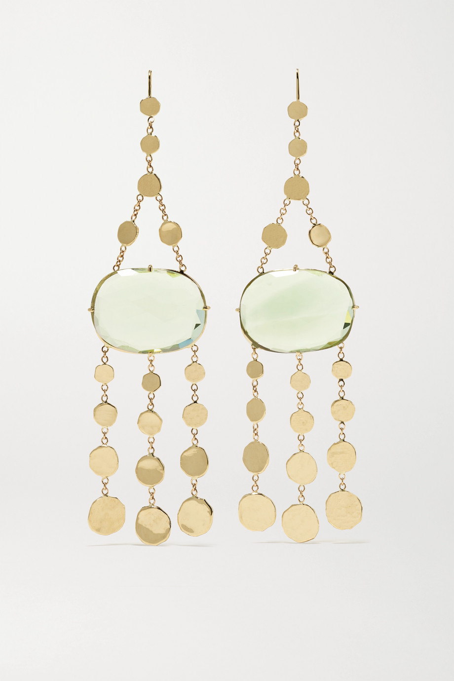 JACQUIE AICHE 14-karat gold amethyst earrings