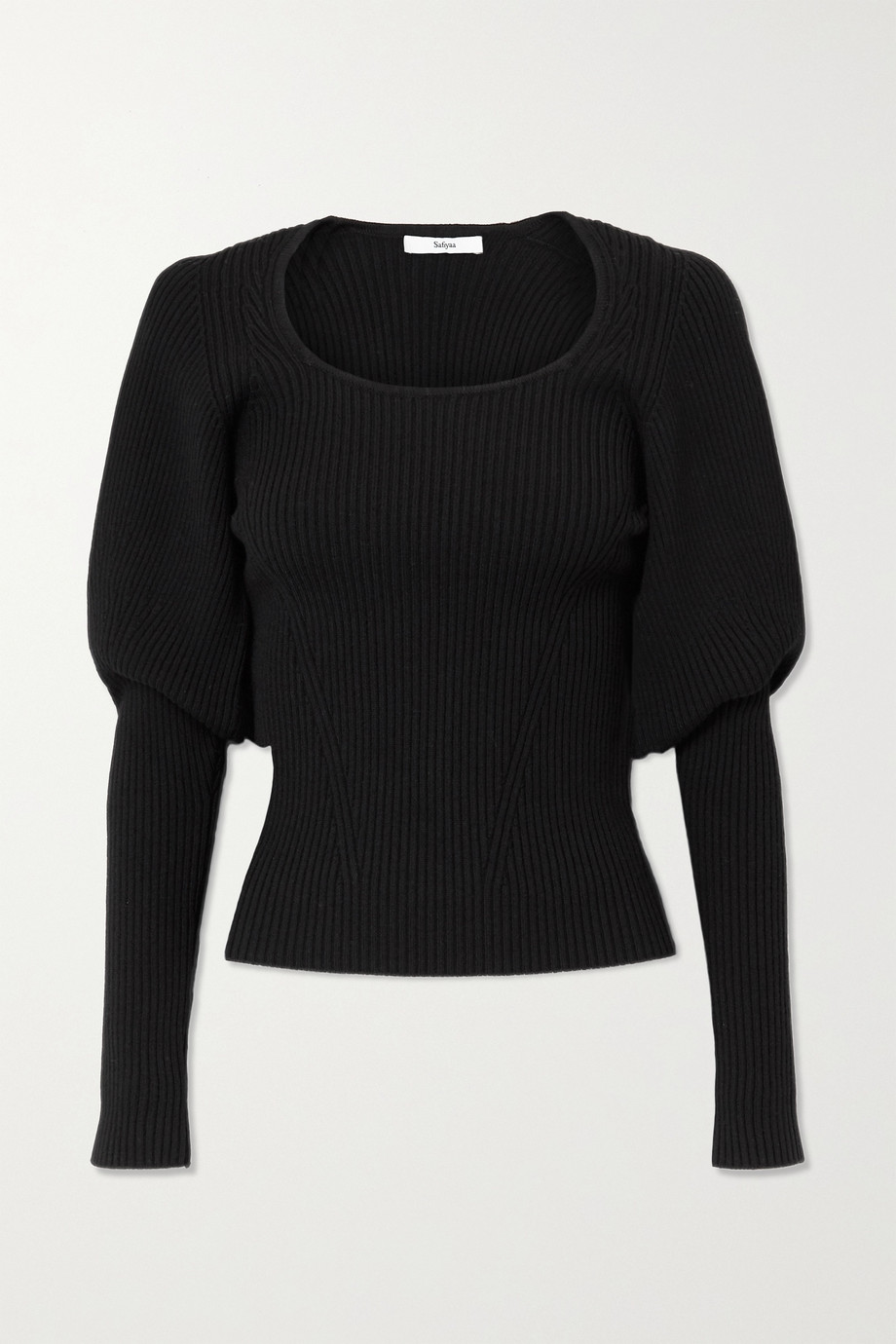 SAFIYAA Beryl ribbed wool-blend top