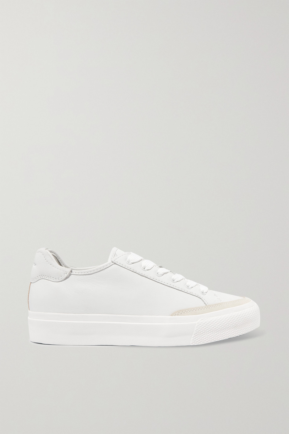 RAG & BONE Army suede-trimmed leather sneakers