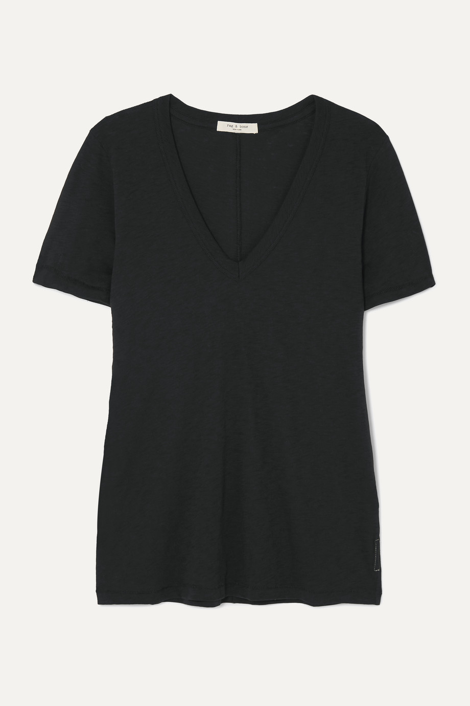 RAG & BONE The Vee slub Pima cotton-jersey T-shirt