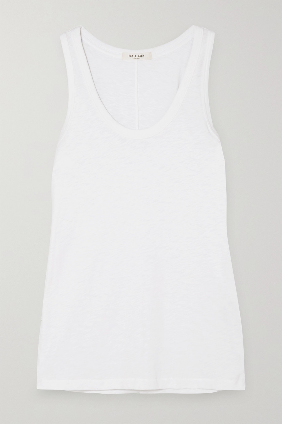 RAG & BONE Slub stretch-Pima cotton-jersey tank