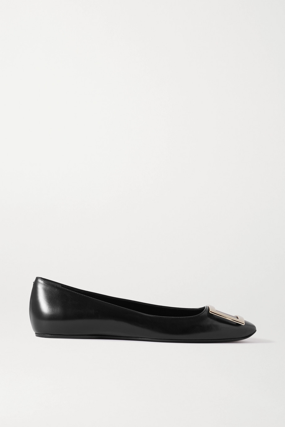 ROGER VIVIER Trompette Bellerine glossed-leather ballet flats
