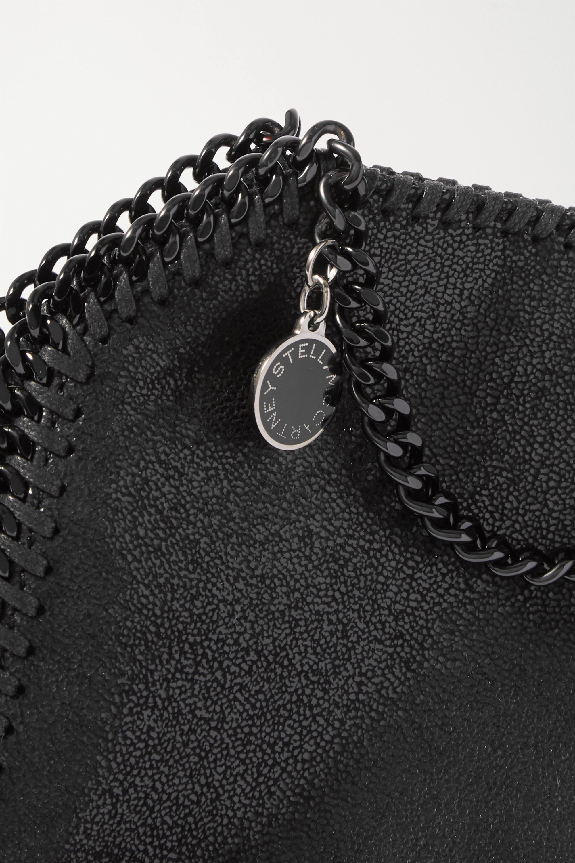 STELLA MCCARTNEY The Falabella tiny vegetarian brushed-leather shoulder bag