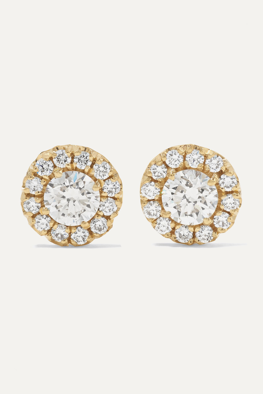 SUZANNE KALAN 18-karat gold diamond earrings