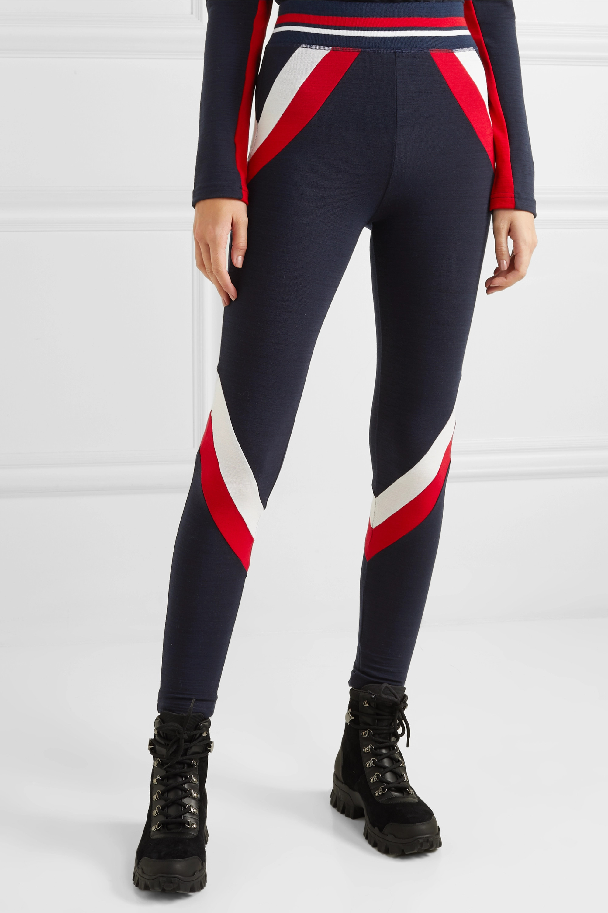 WE NORWEGIANS Voss paneled stretch-merino wool leggings