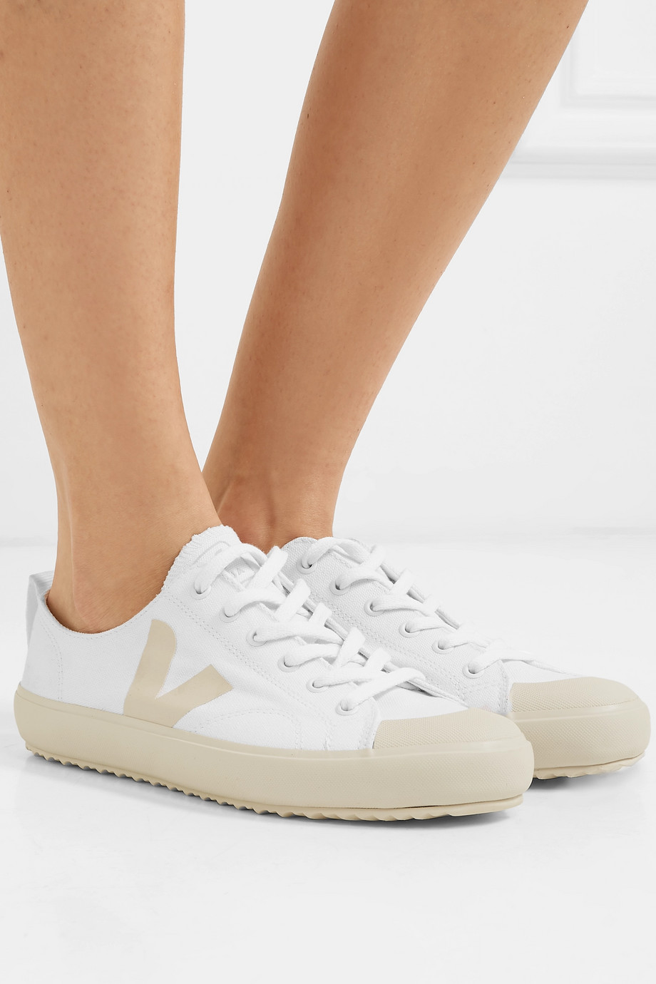 VEJA + NET SUSTAIN Nova organic cotton-canvas sneakers