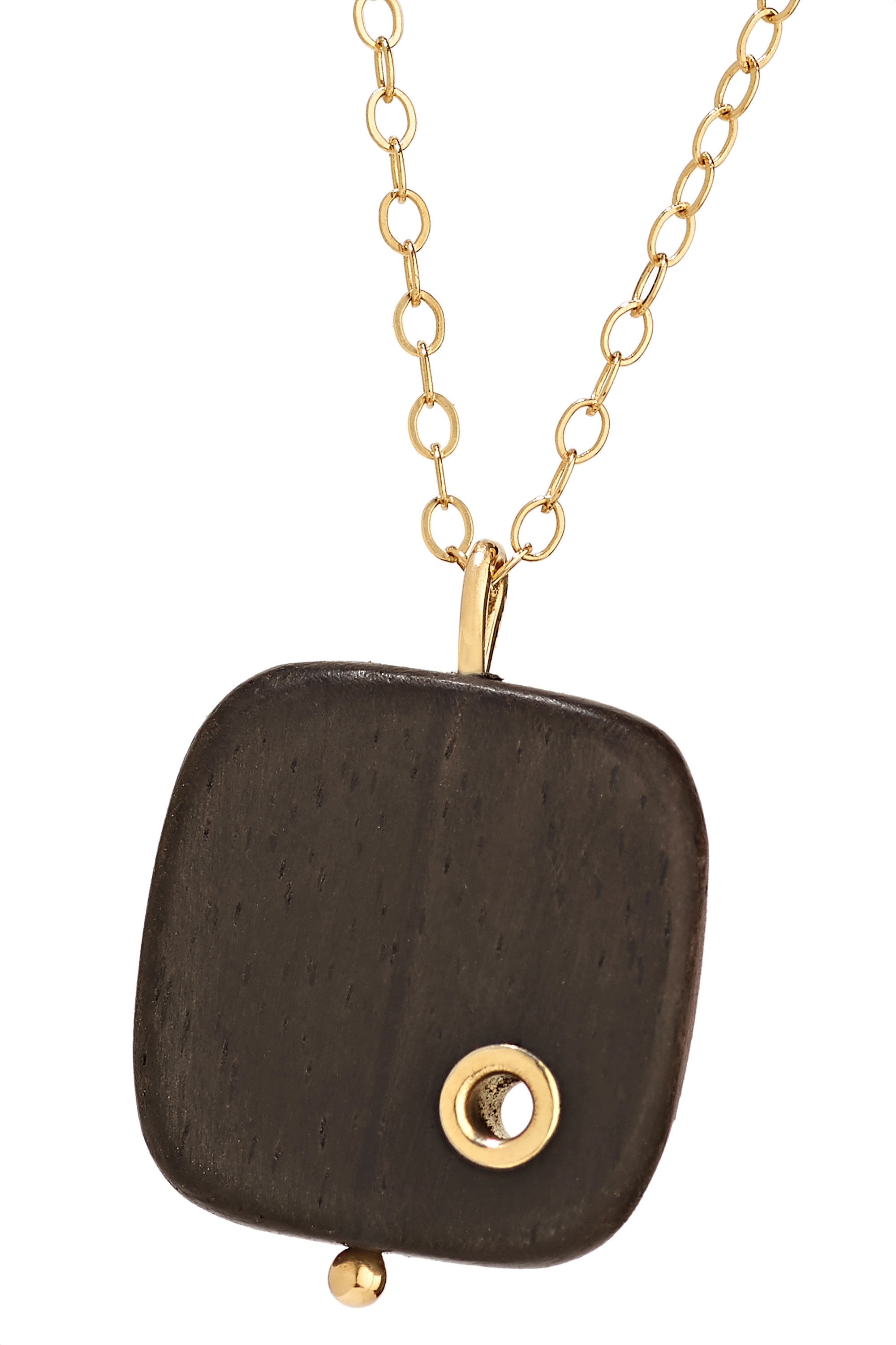 MELISSA JOY MANNING 14-karat gold ebony necklace