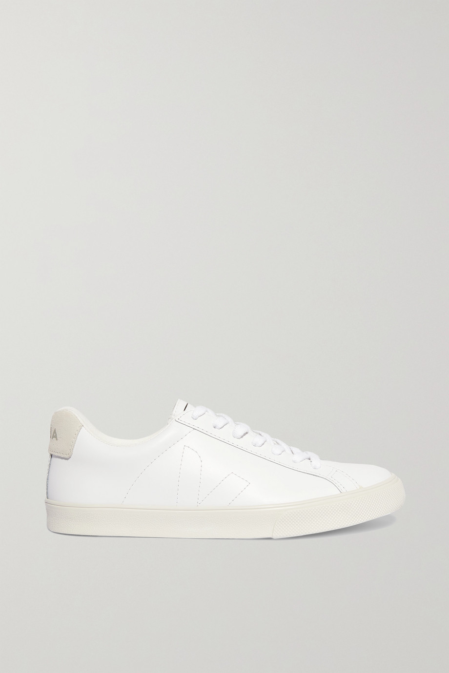 VEJA + NET SUSTAIN Esplar suede-trimmed leather sneakers