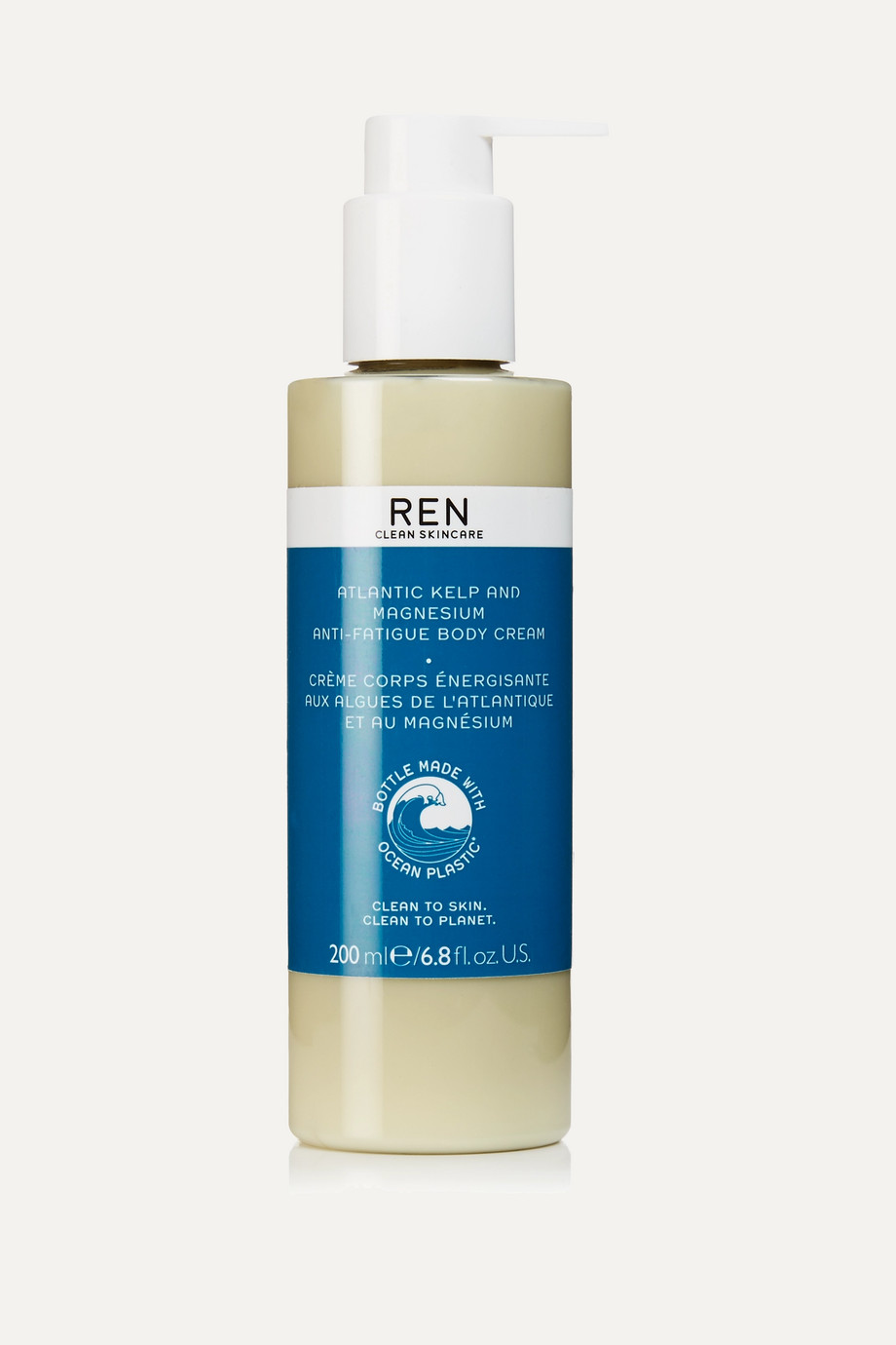 REN CLEAN SKINCARE Atlantic Kelp and Magnesium Anti-Fatigue Body Cream, 200ml