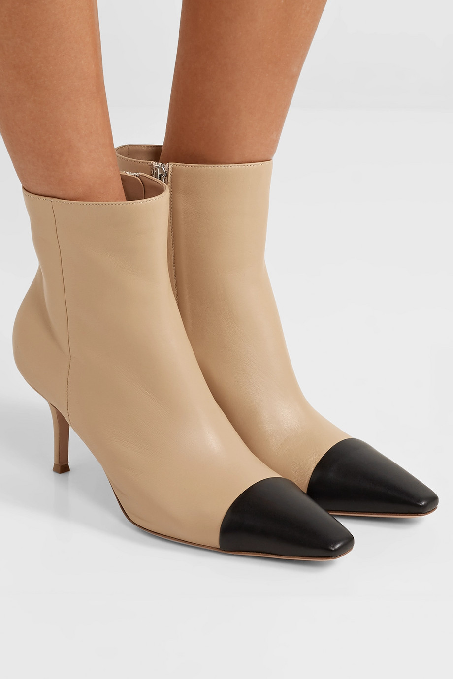 GIANVITO ROSSI 70 two-tone leather ankle boots