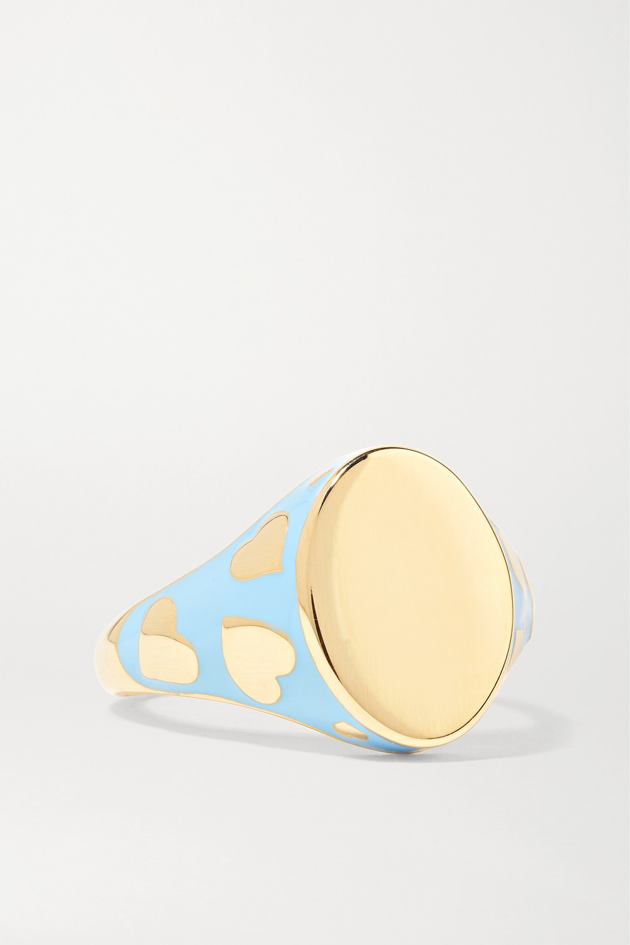 ALISON LOU Amour 14-karat gold and enamel ring