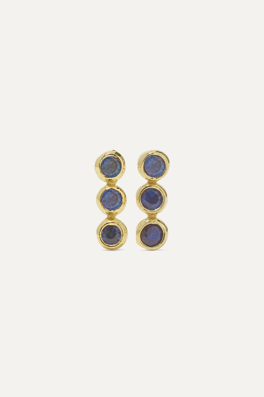JENNIFER MEYER 18-karat gold sapphire earrings