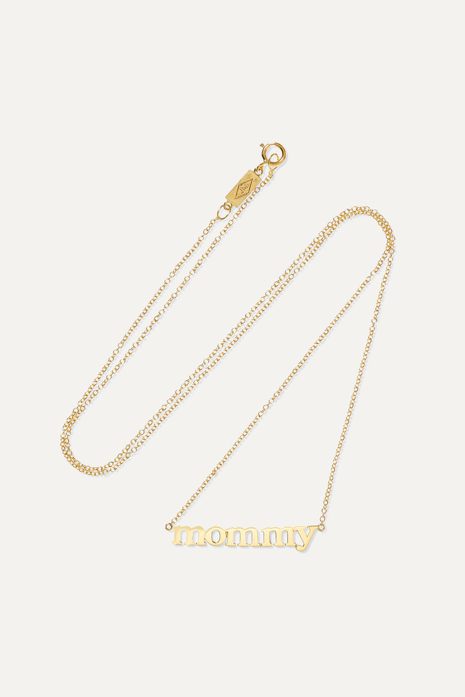 JENNIFER MEYER Mommy 18-karat gold necklace