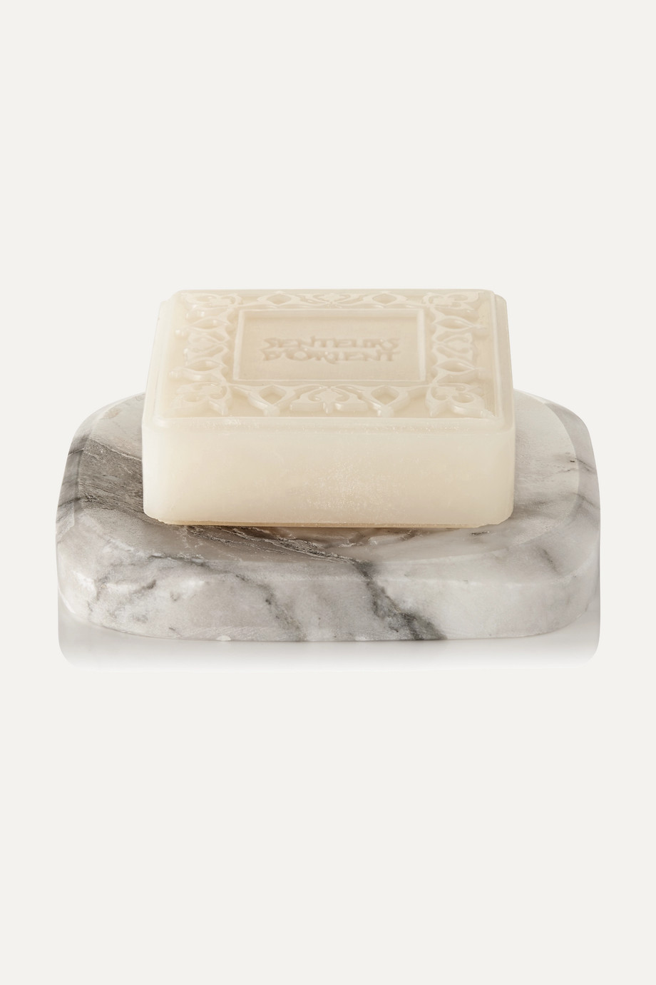 SENTEURS D'ORIENT + NET SUSTAIN Orange Blossom Ma'amoul Soap with Marble Dish, 305g
