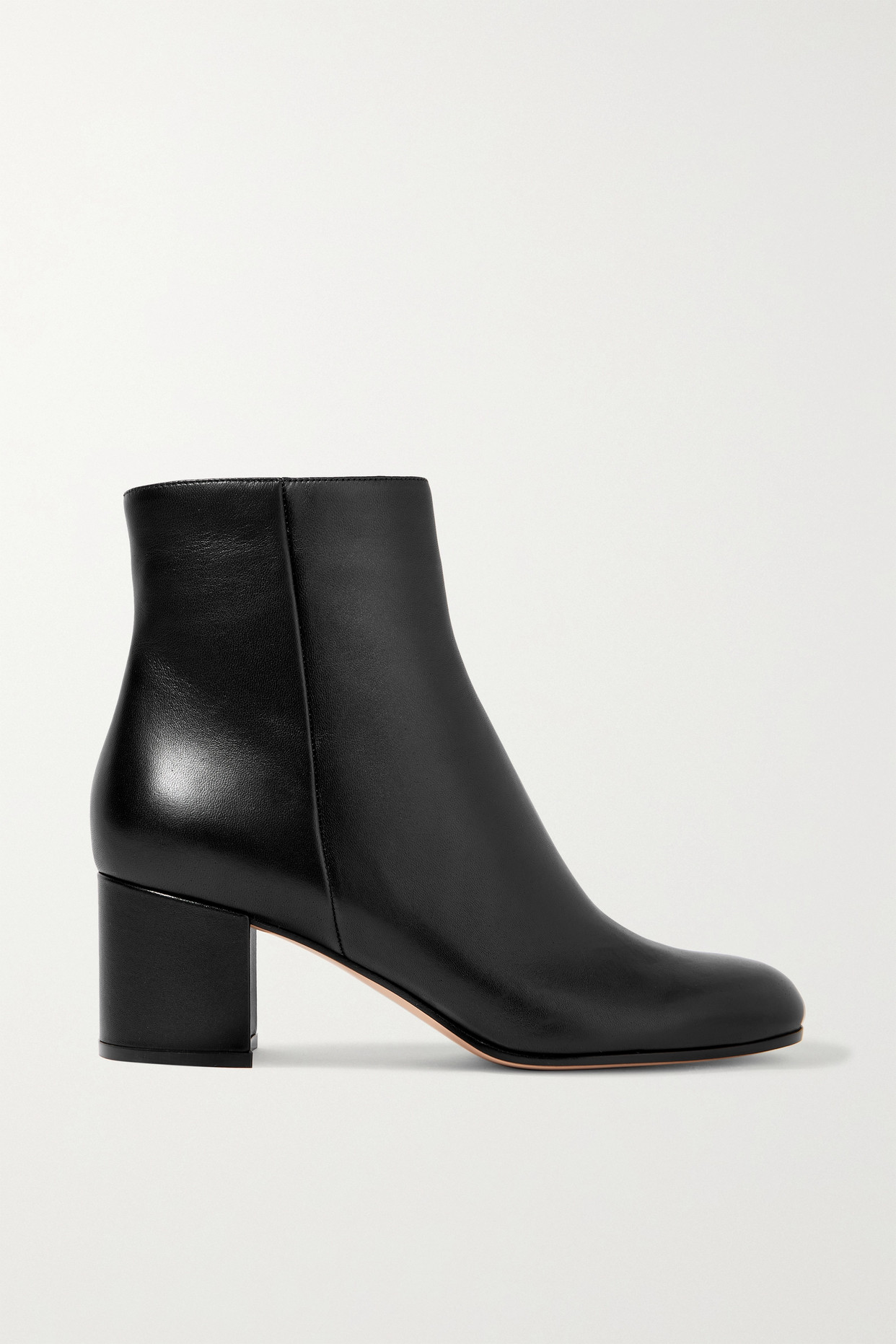 GIANVITO ROSSI - Margaux 60 Leather Ankle Boots - Black - IT36